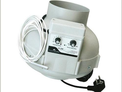 PK EC Ventilator 680m³/h Ø 125mm Temp./ Speed Controlled