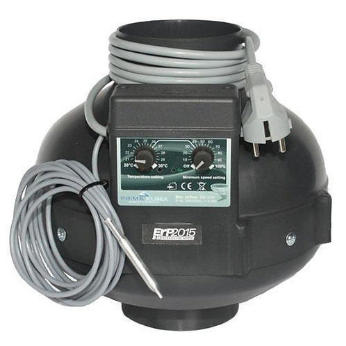 PK Rohrventilator 400 m³/h, Ø 125mm Temperatur gesteuert