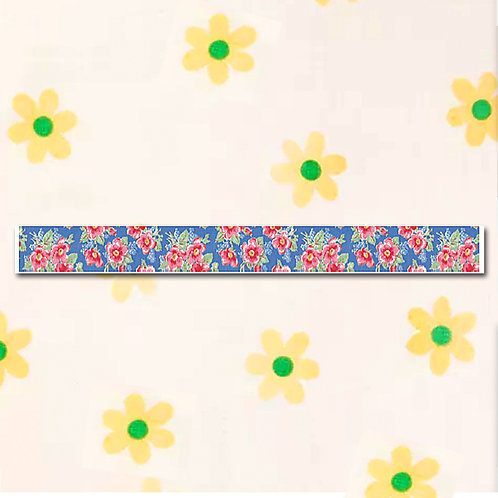 90260000037 Washi Tape - Floral Design Blue