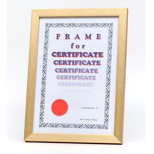 Gold frame, certificate frame,  photo frame, A4  picture frame, GM frame, award frame, wooden frame, Goodrich