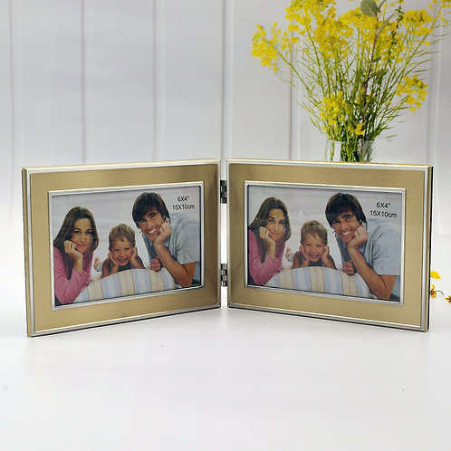 Y2B39CHSK-4RDH - Double 4R Gold metal frame