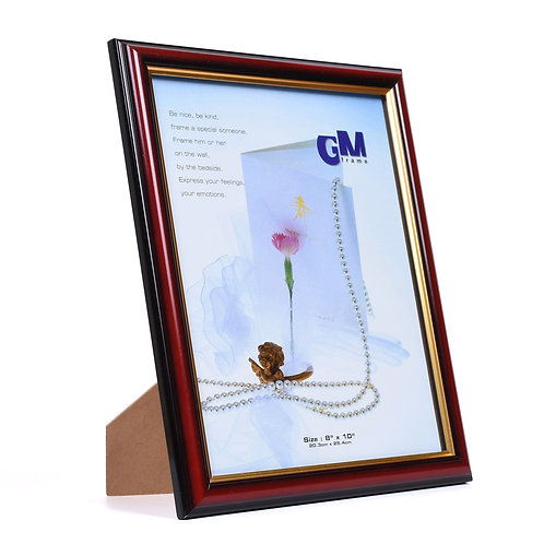 R70 - Wooden Frame maroon colour size 8R