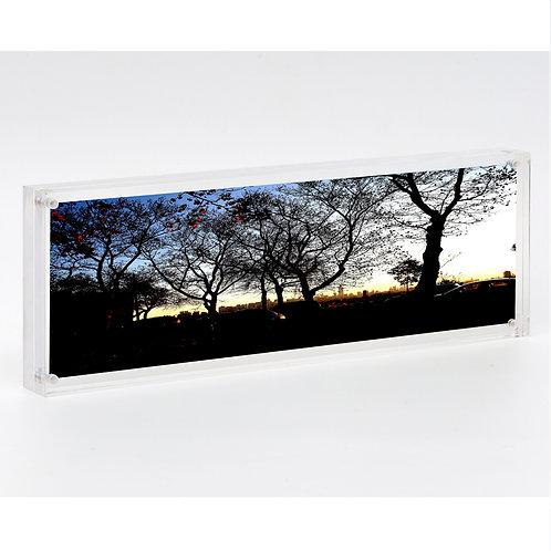 B0967-4X12 - Acrylic Black frame, 105 x 305 x 24mm