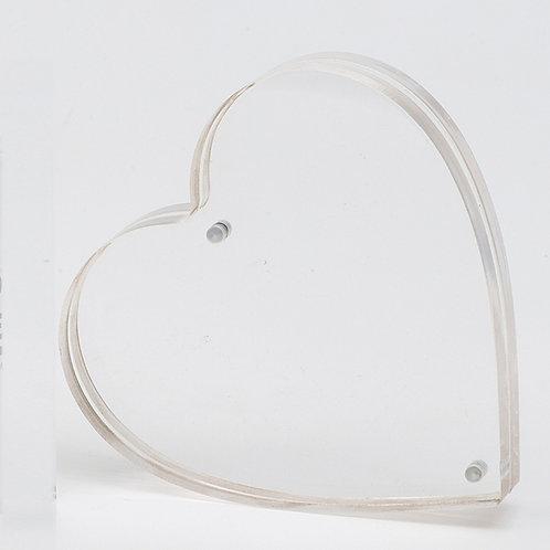 L2049 - Acrylic frame Heart Shape