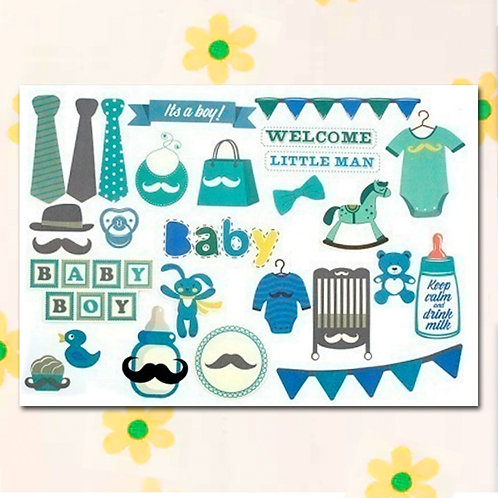 84793 – Scrapbook cardboard cutout - Baby