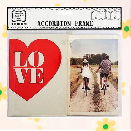 """84744 ACCORDION 6X4"""" - LOVE"""
