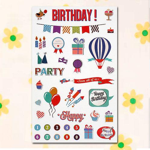 84813 Sticker - Birthday