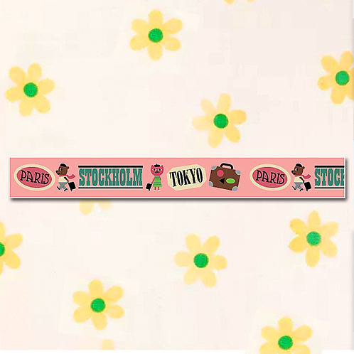 90260000044 Washi Tape - Paris S'holm & Two Stamps