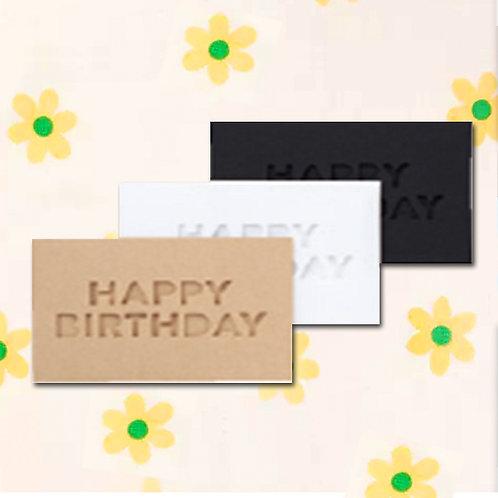 90260000052 Deco mini card - Happy Birthday