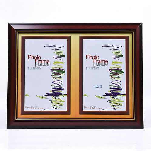 """P3053 - Wooden Frame Maroon, size 12"""" x 16"""""""