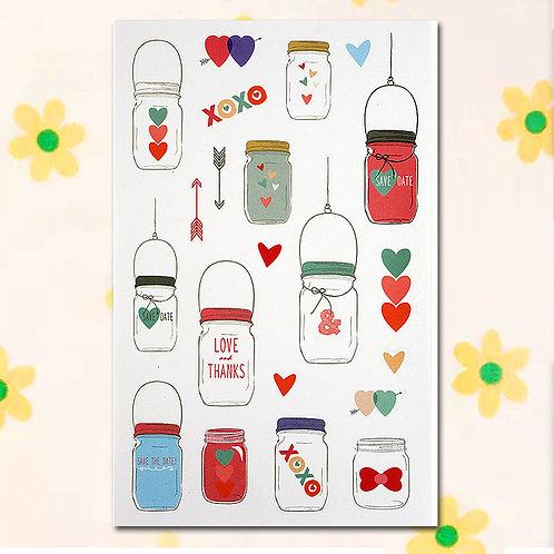 84810 Sticker - Hearts