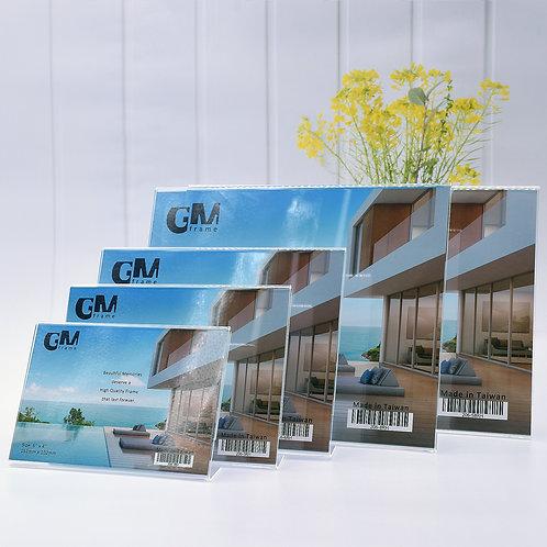 L shape acrylic frame, landscape frame, cheap acrylic frame, simple acrylic frame, clear acrylic frame, acrylic frame,