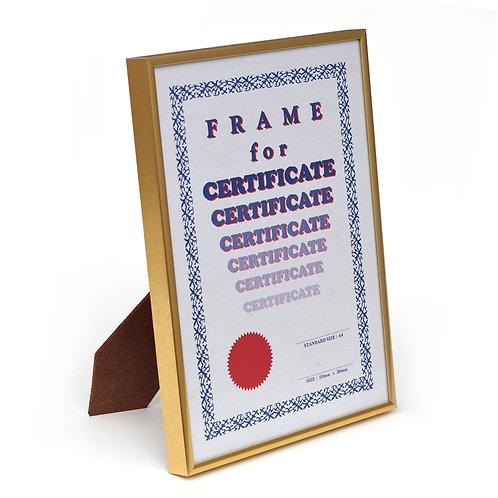 Metal frame, certificate frame, Gold photo frame, A4  picture frame, GM frame, award frame, presentation frame, Goodrich.