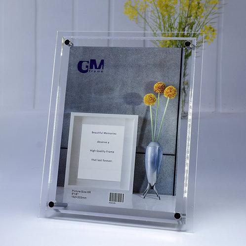 A505-8R Acrylic frame with bevel edge.