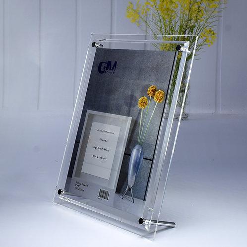 A505-6R Acrylic frame with bevel edge.