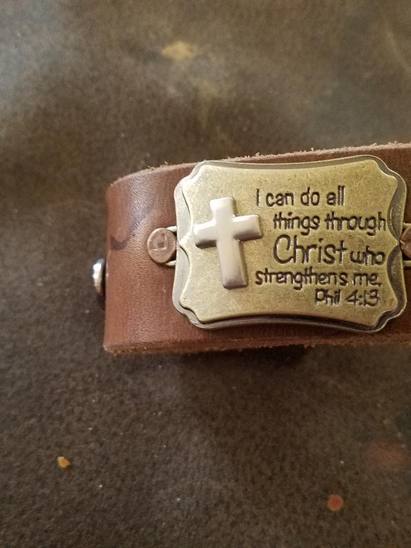 Leather Belt Bracelet