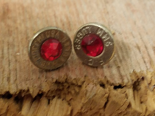 AMMO EARRINGS, STUD, NICKEL