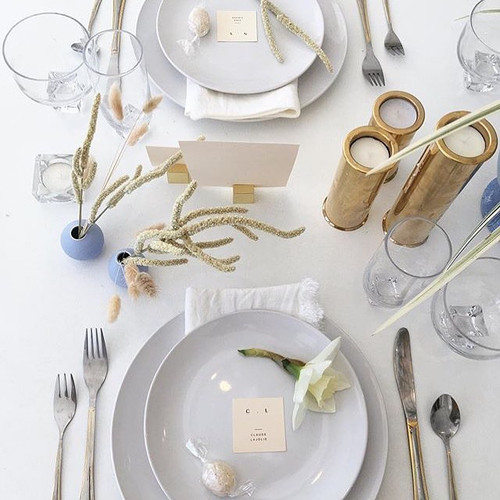 tablescape with coconut bite