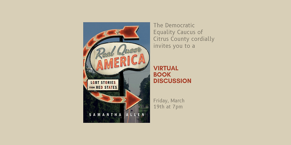 """Book Discussion - """"Real Queer America"""" by Samantha Allen"""