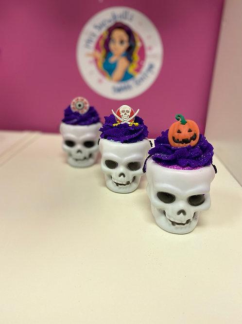 Skull - bath bomb / bubble mix / free flashing ring
