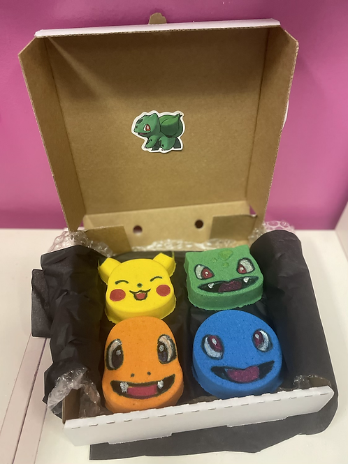 Hand painted STARTERS collection bath bombs