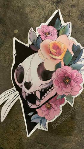 12. Cat Skull
