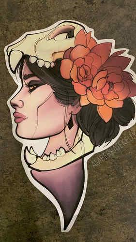 2. Girl Skull