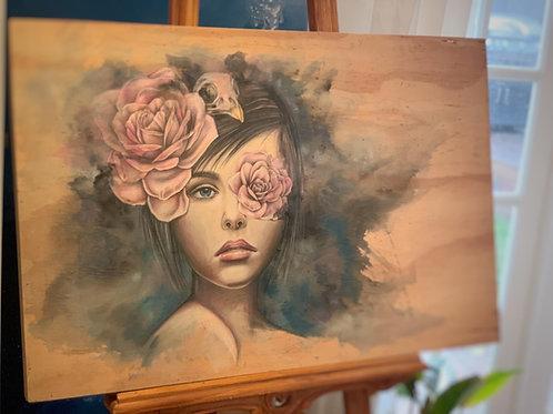 Original Blue Woman Artwork