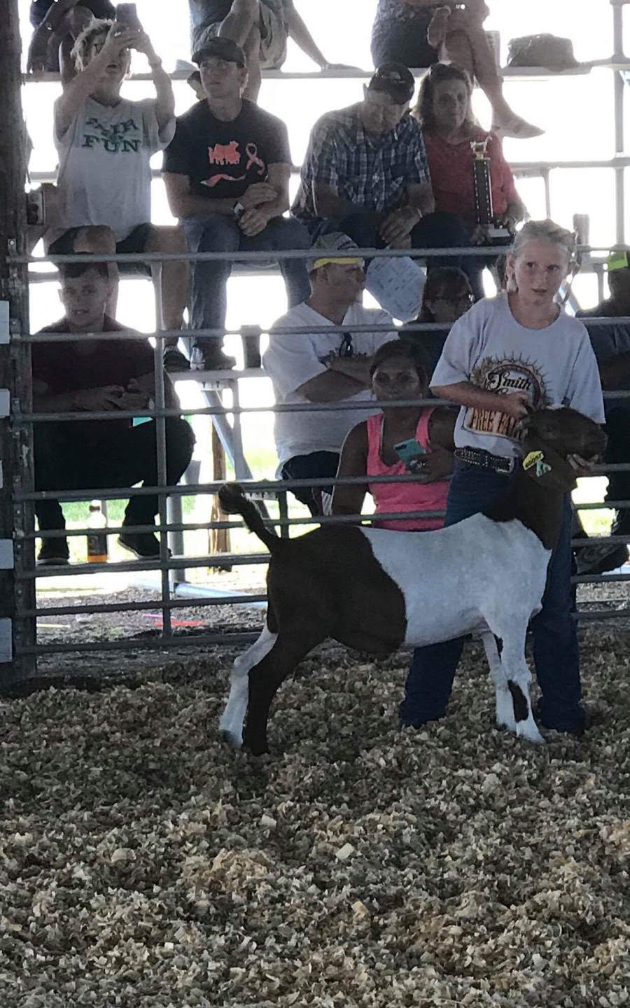 April Webb and her market goat.