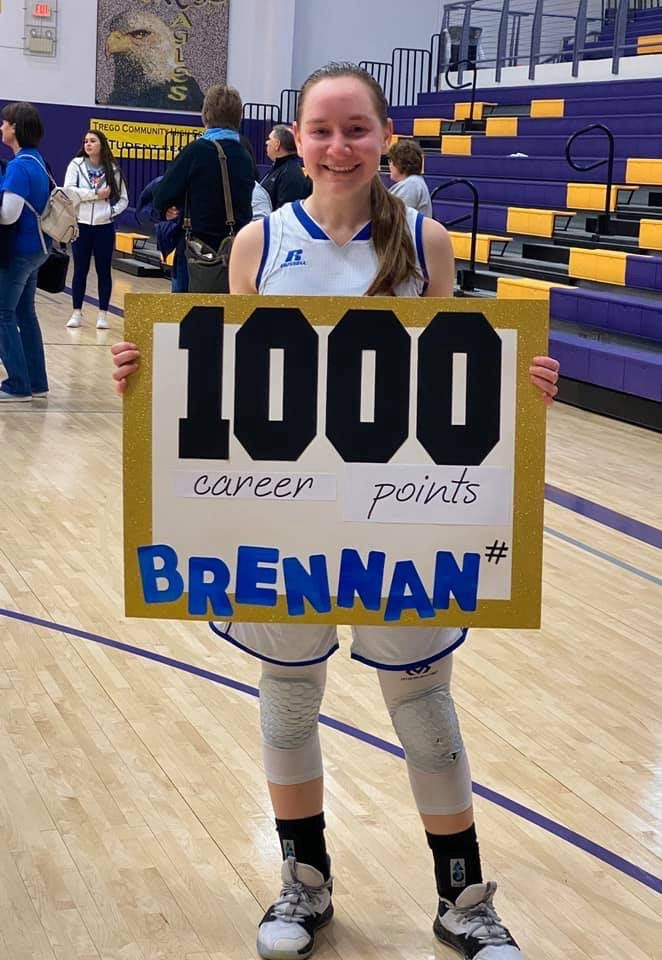 News for 3/11/2020  Congrats Brennan Kirchhoff on 1,000 career points!