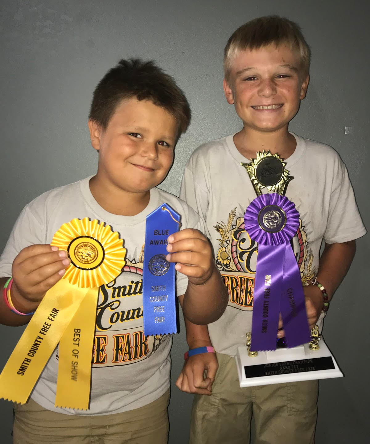 Lucas and Levi Barnes awards in Handpets