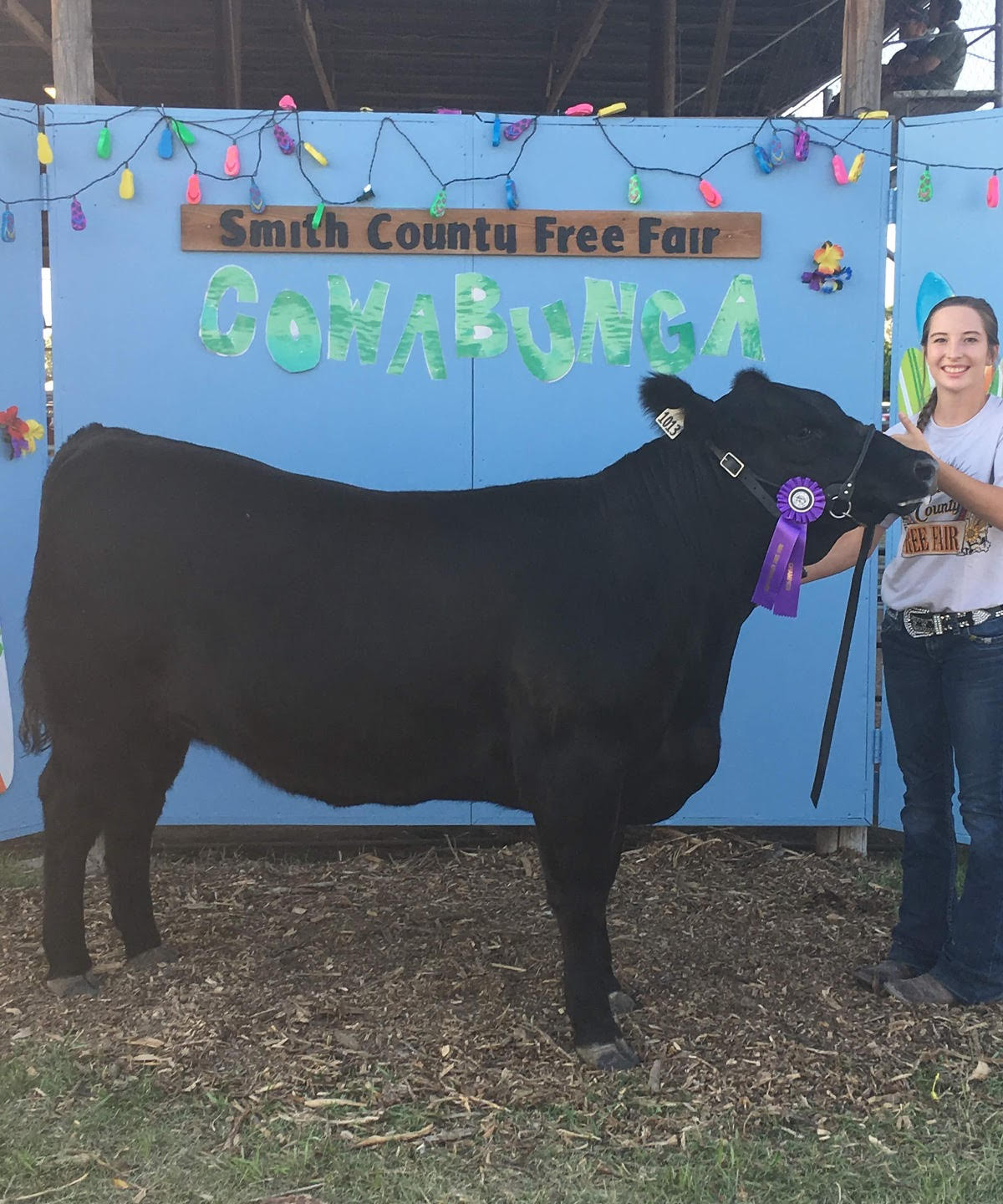 Matti Riley  Grand Champion Market Heifer.