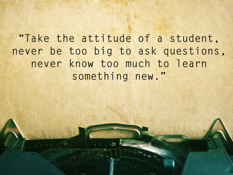 What We Learn From Our Students