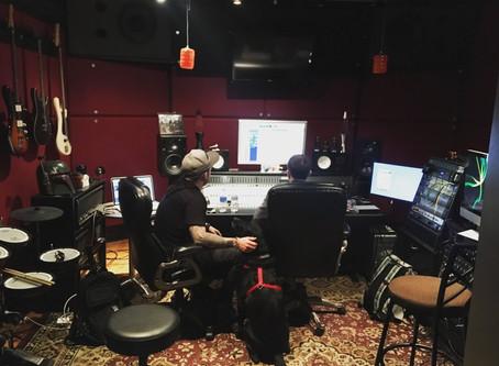In the Studio Recording Our Sophomore Album.