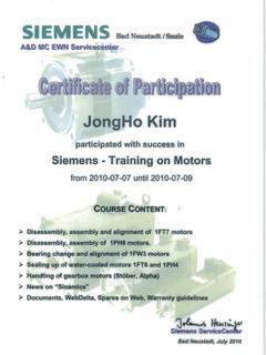 Certification for Motor