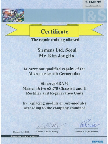 Certification for Drive
