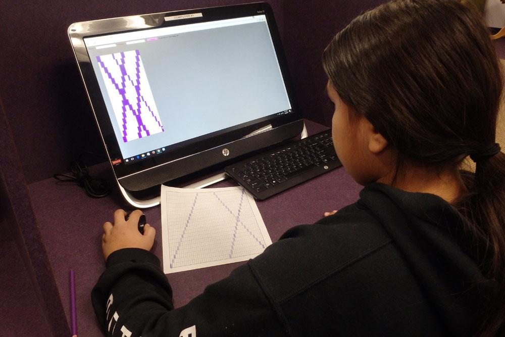 Student Using Web App