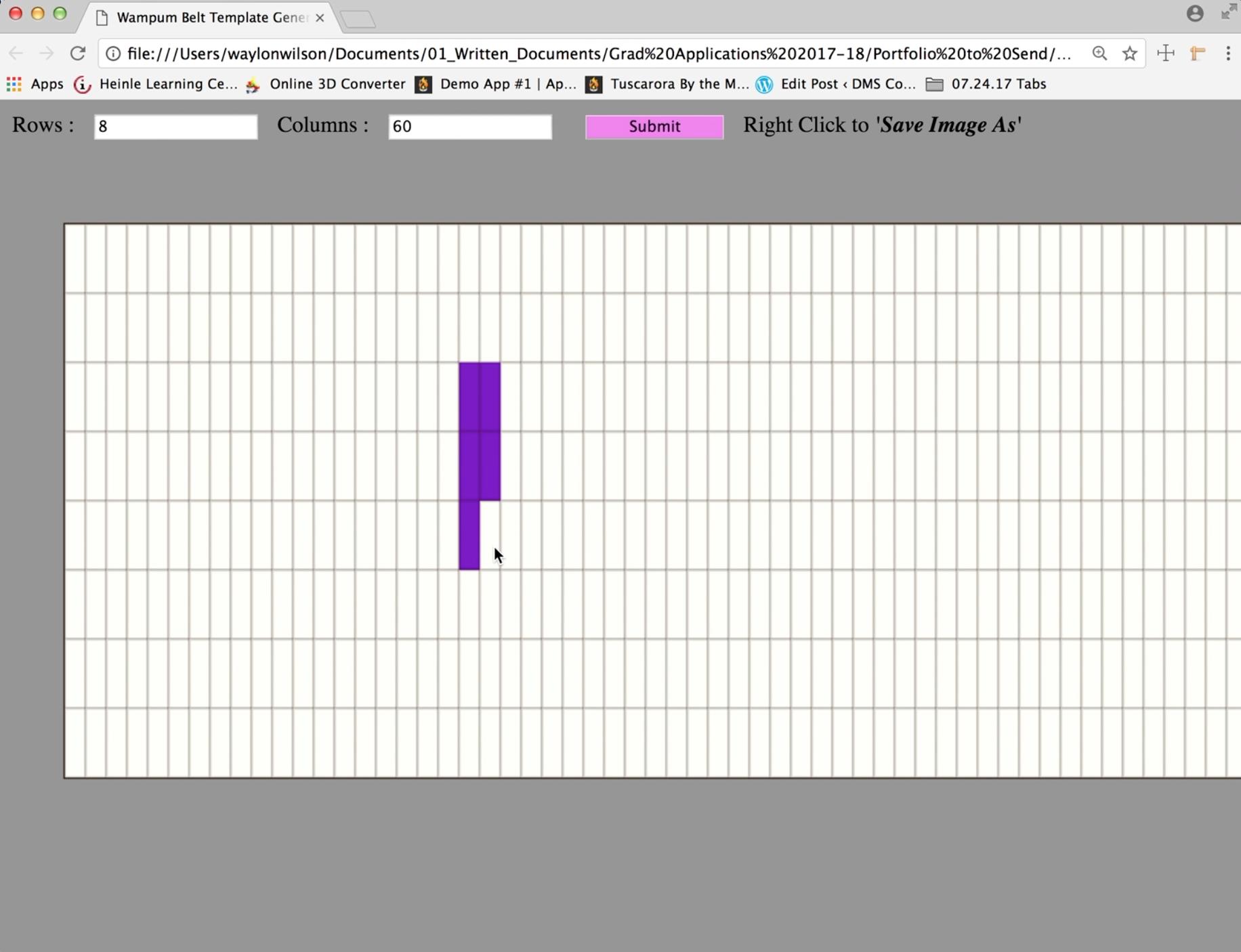 Template Generator Screenshot