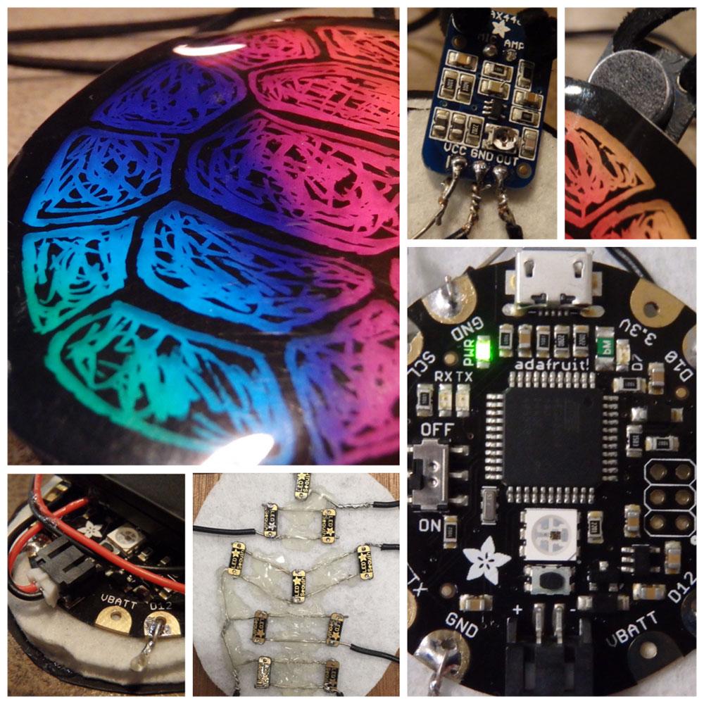 LED Voice-Responsive Pendant