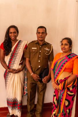 Hoher Besuch von der lokalen Polizei