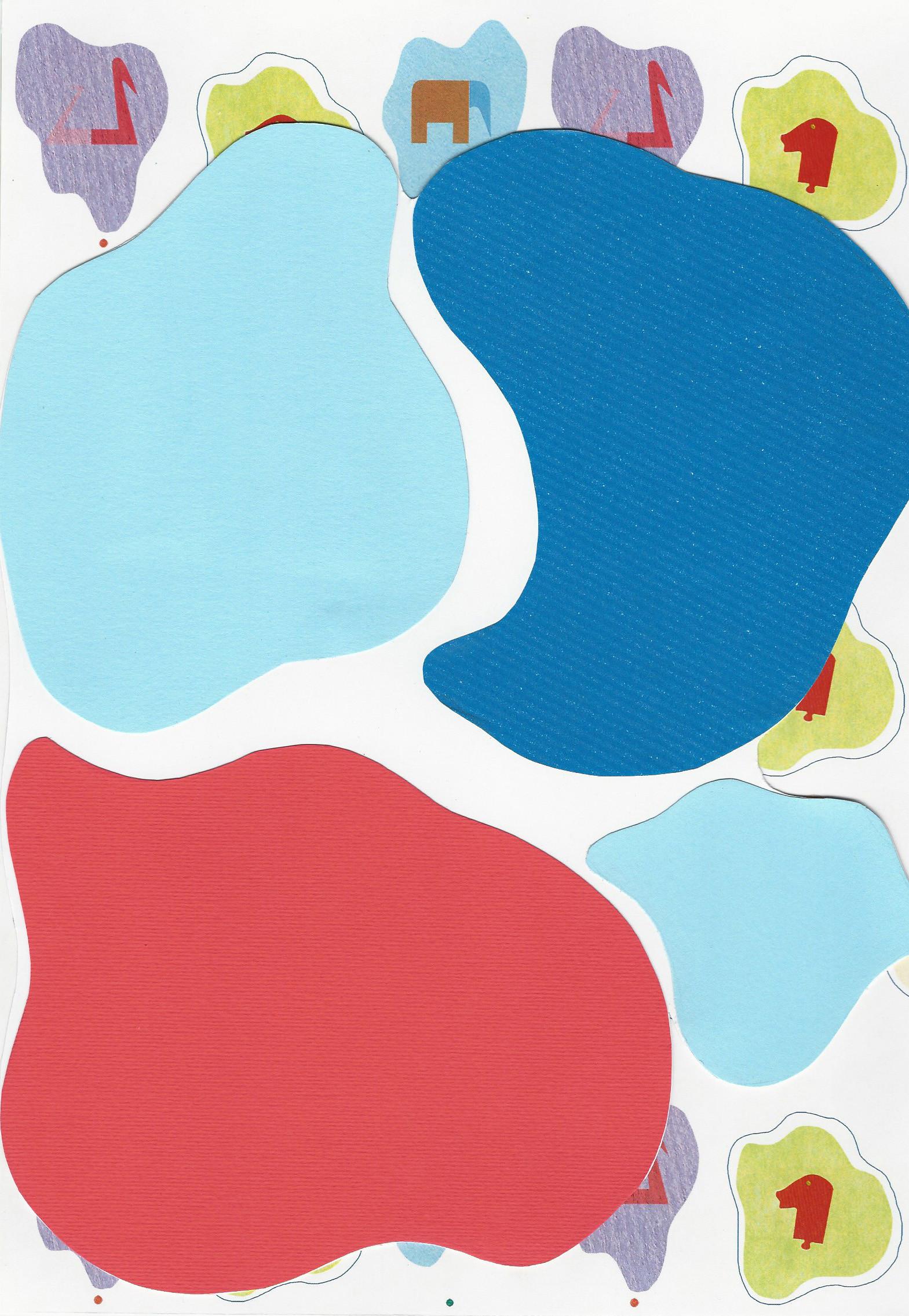 Queste ingombranti macchie formano delle pozzanghere colorate con il riflesso della carta