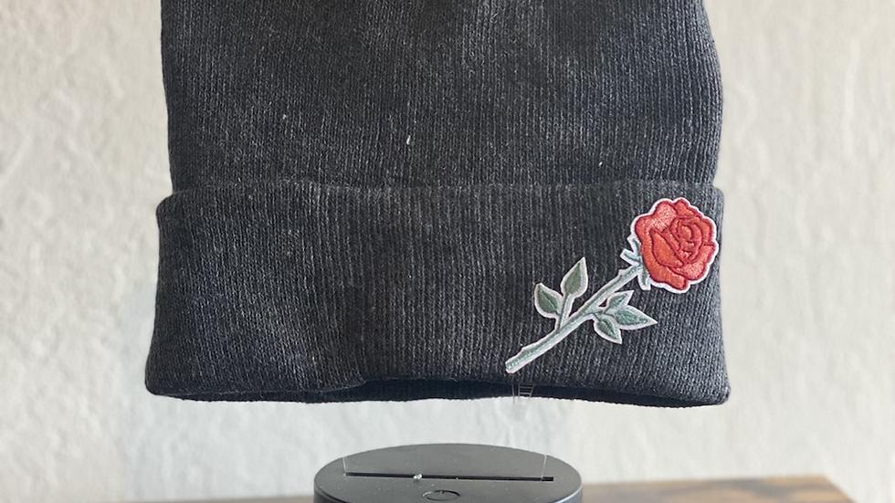 Single Rose thinking cap (beanie)