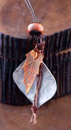 silver/copper leaf