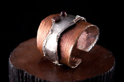 silver/canvas cuff
