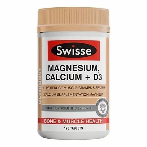 Swisse - Ultiboost 健骨鈣鎂 + 維他命 D 120 粒