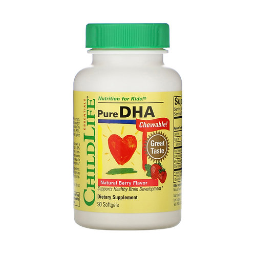 ChildLife - 童年時光 兒童DHA 可咀嚼軟膠囊天然漿果味 90粒