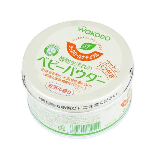 Wakodo 和光堂 - 紅茶香型植物爽身粉(帶粉撲)120g