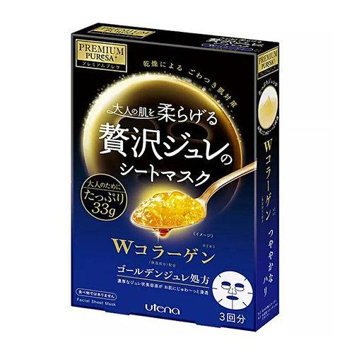 Utena - Premium Puresa 雙重膠原蛋白黃金凝膠面膜 - 3piece (平行進口貨)