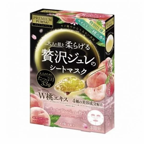 Utena - Premium Puresa 香桃黃金凝膠面膜 - 3piece (平行進口貨)