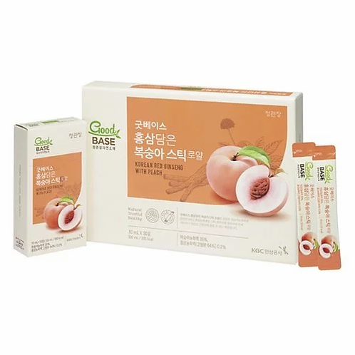 正官庄 - 紅參水蜜桃飲 10ml x 30條 (平行進口貨)